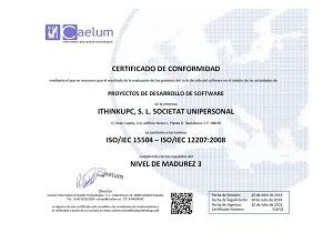 Certificado ISO/IEC 15504 IThinkUPC